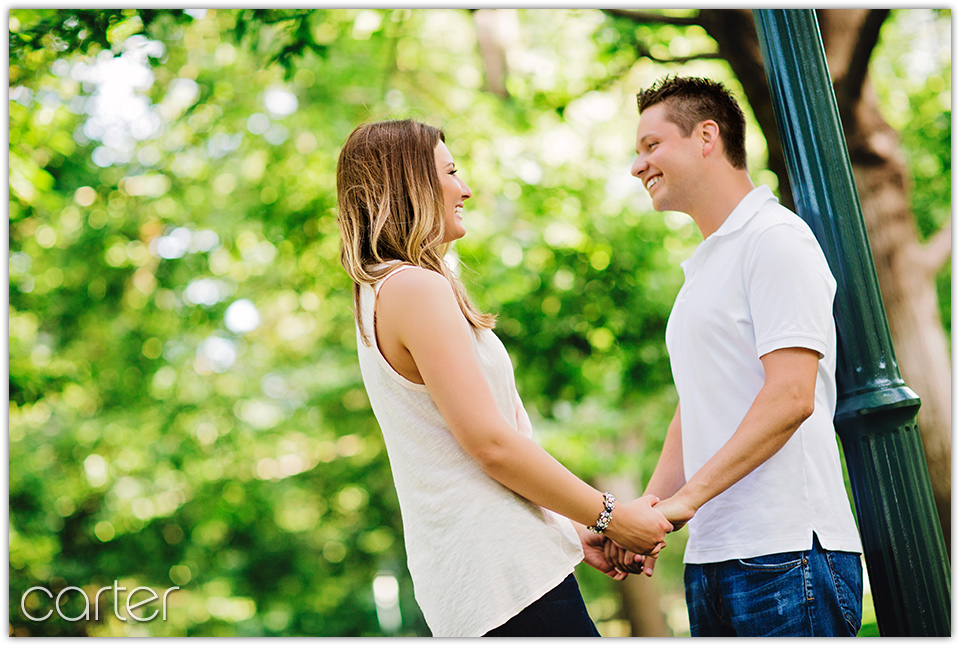 Kansas City Engagement Session Loose Park & Nelson Atkins Carter Photography