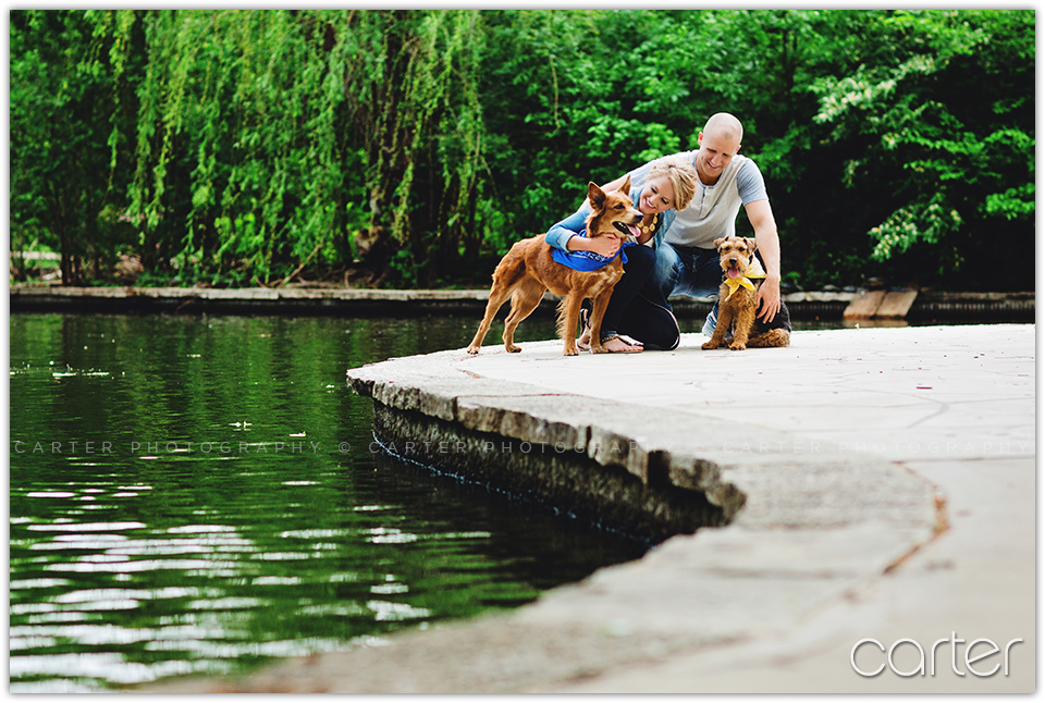 Engaged Lifestyle Mini Photo Session With Dogs at Loose Park - Carter Photography