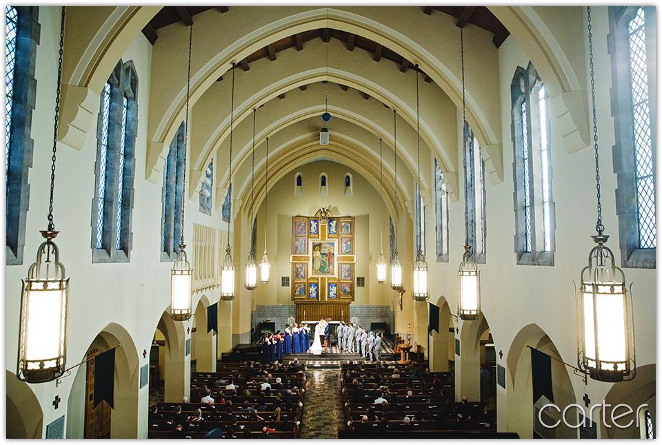 Kansas City Wedding at St. Peter's Church - Carter Photography