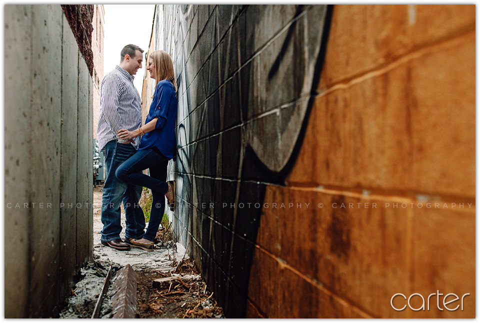 Cedar Rapids Newbo Market Engagement Session - Carter Photography