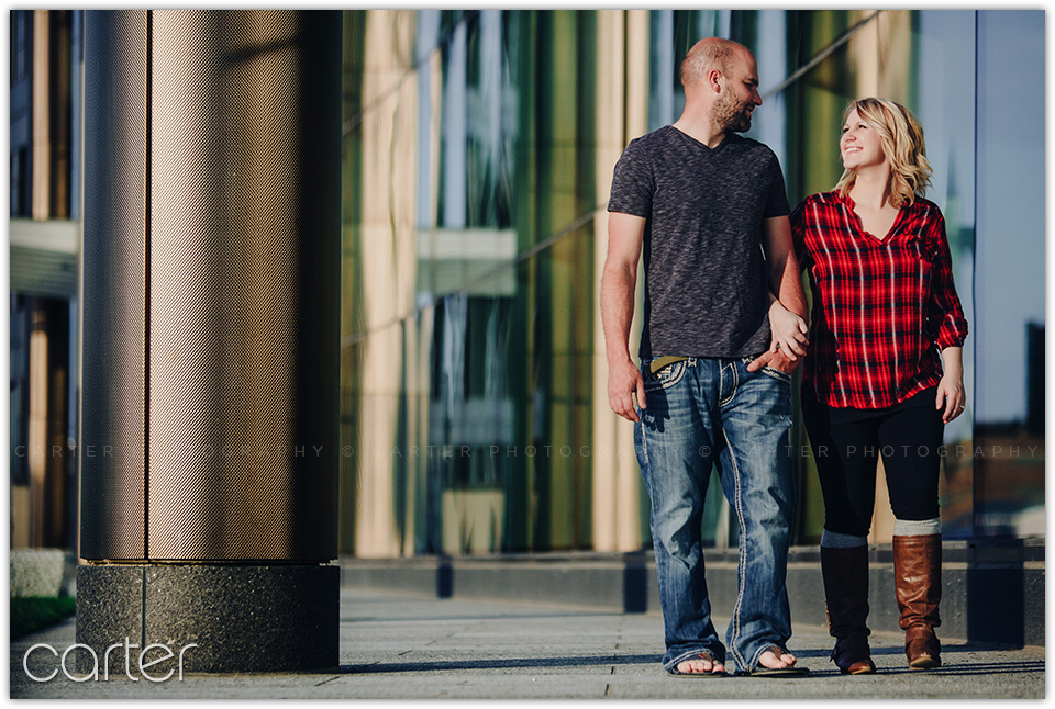 Cedar Rapids Lifestyle Engagement Session - Carter Photography