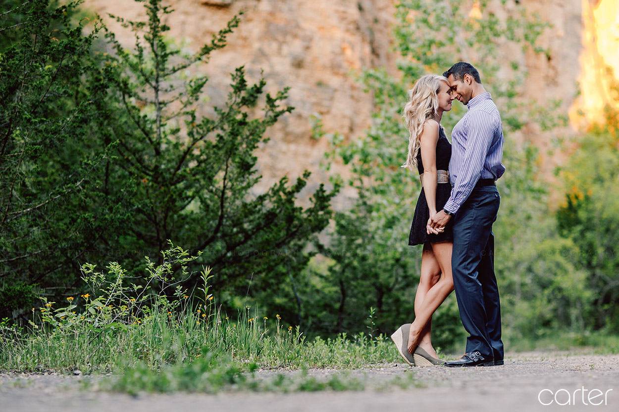 Dubuque Iowa Mines of Spain Engagement Pictures - Carter Photography