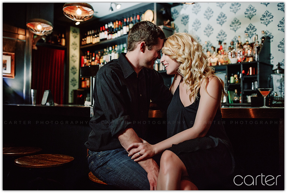 Iowa City Engagement Session Pictures Clinton Street Social Club - Carter Photography