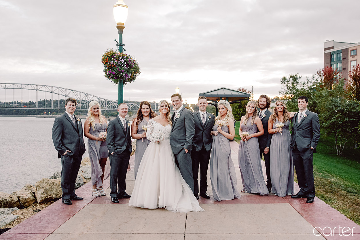 Grand River Center Riverwalk Wedding Pictures Dubuque Iowa Photographers - Carter Photography