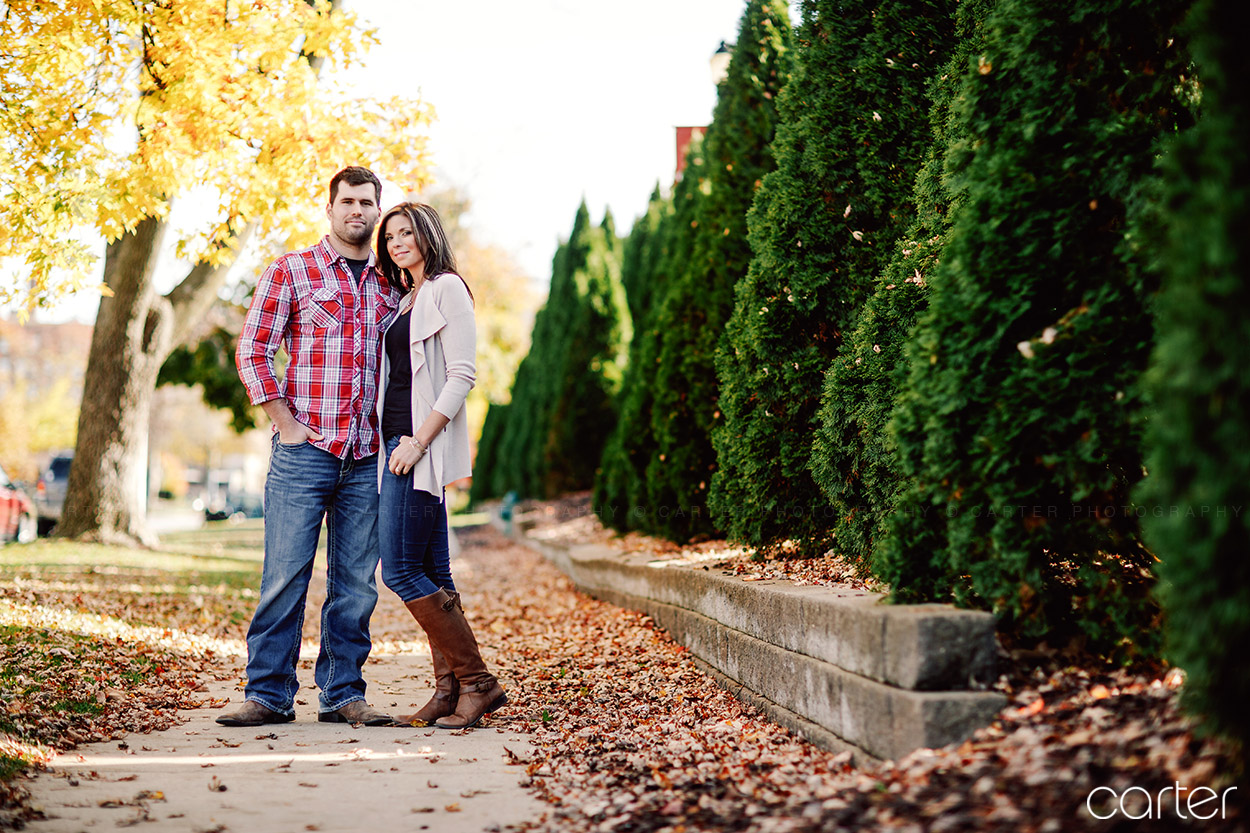 Cedar Rapids Iowa Photographers Engagement Session Coe College - Carter Photography