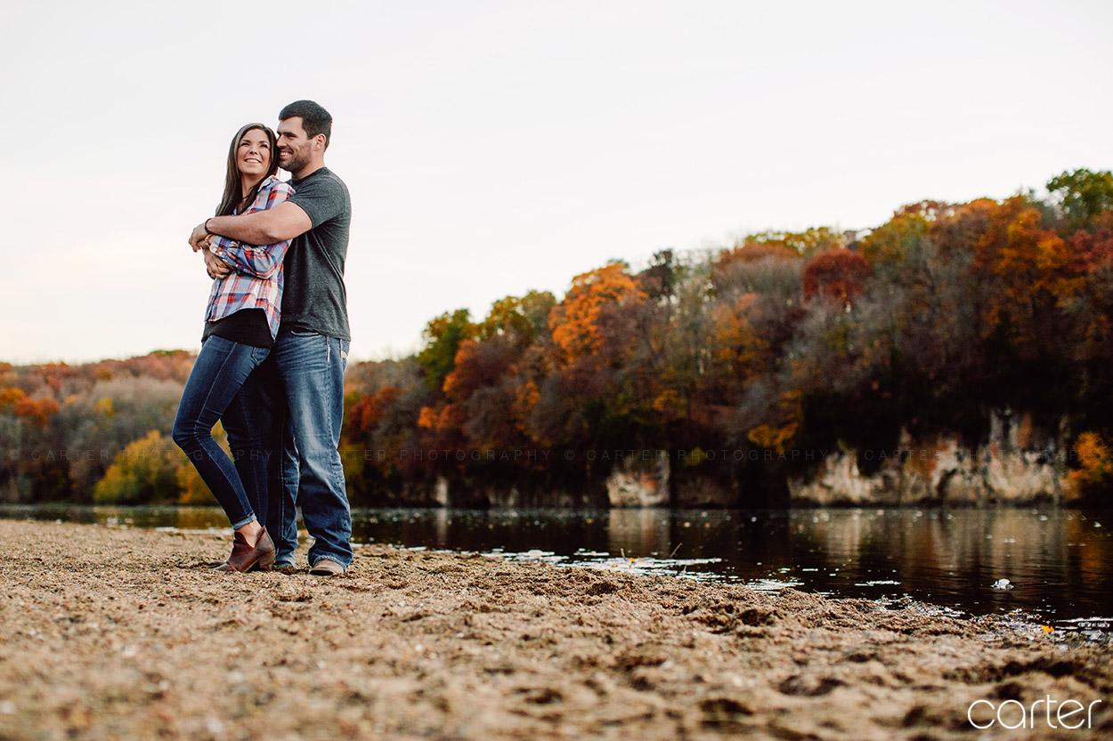Cedar Rapids Iowa Photographers Engagement Session Palisades Park - Carter Photography