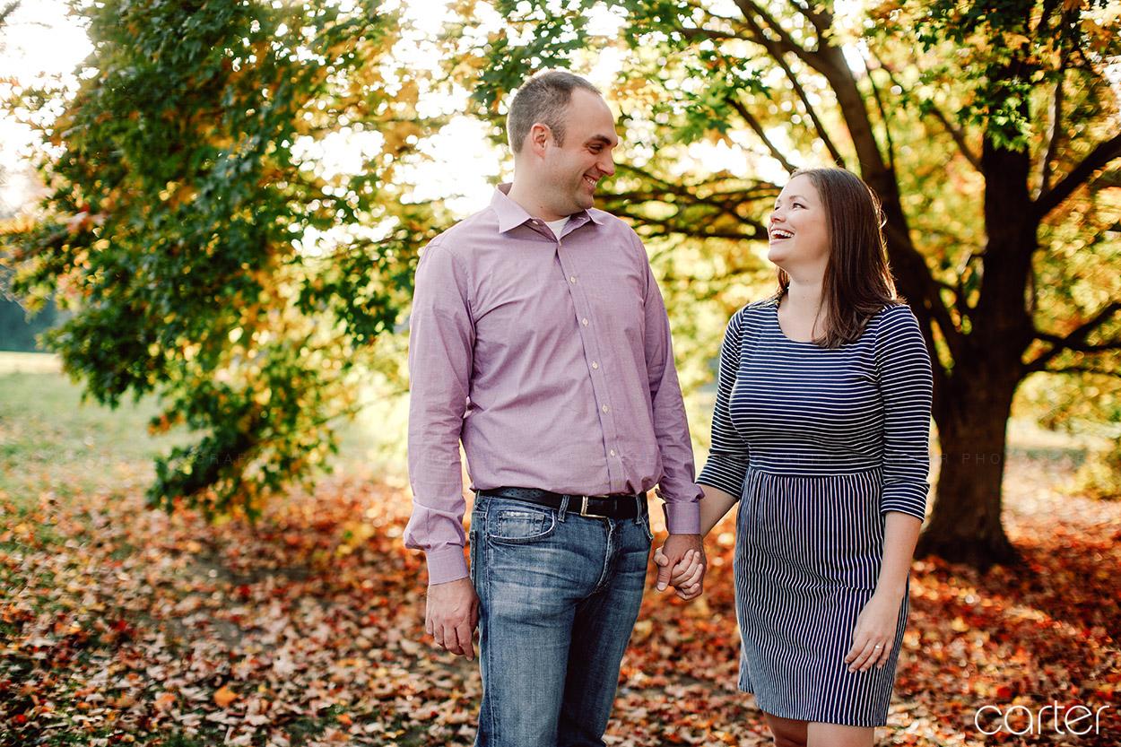 Kansas City Photographers Loose Park Engagement Pictures - Carter Photography