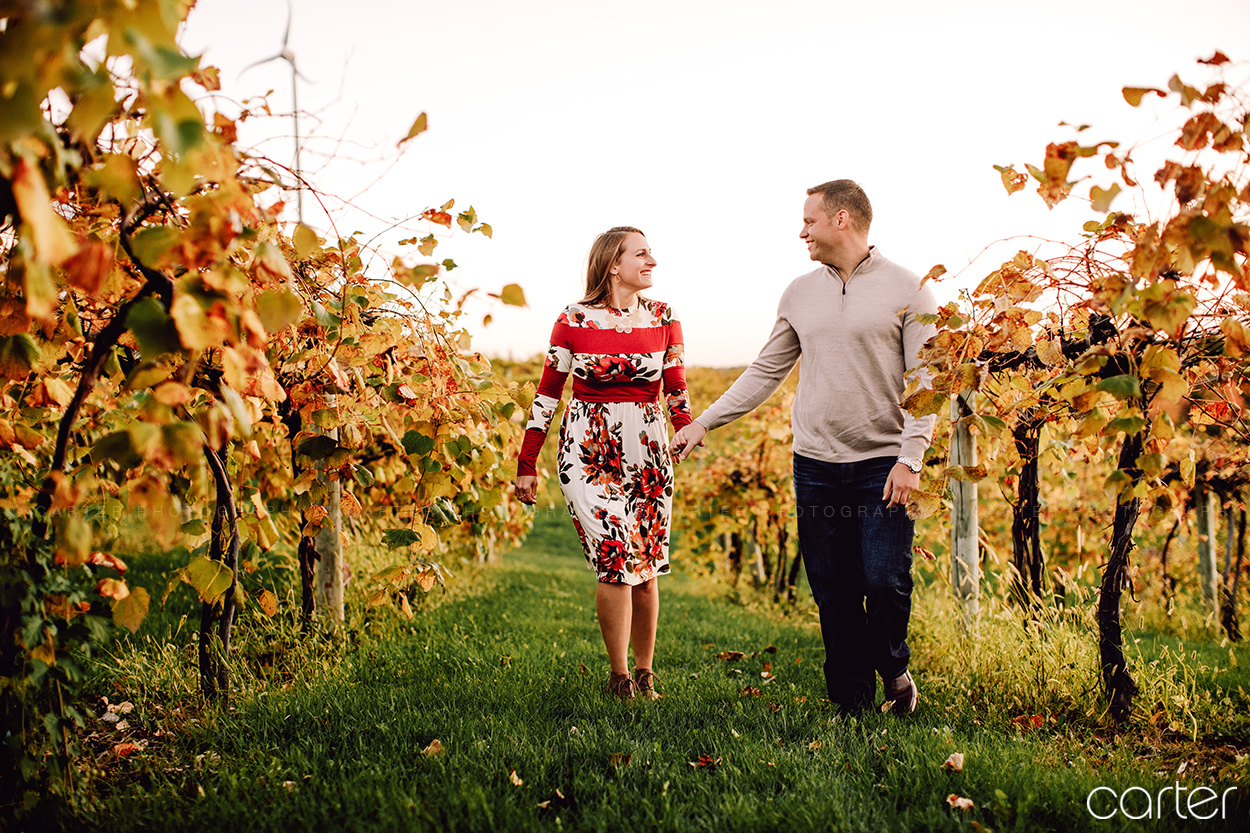 Iowa City Cedar Ridge Winery Engagement Session Pictures Photographers - Carter Photography