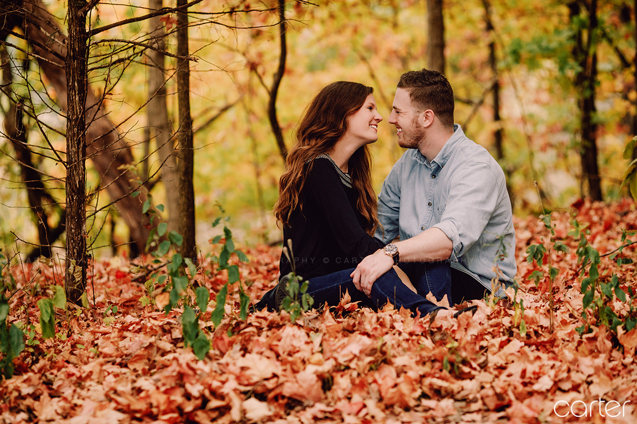 Woodpecker Trail Squire Point Coralville Lake Fall Engagement Session Carter Photography