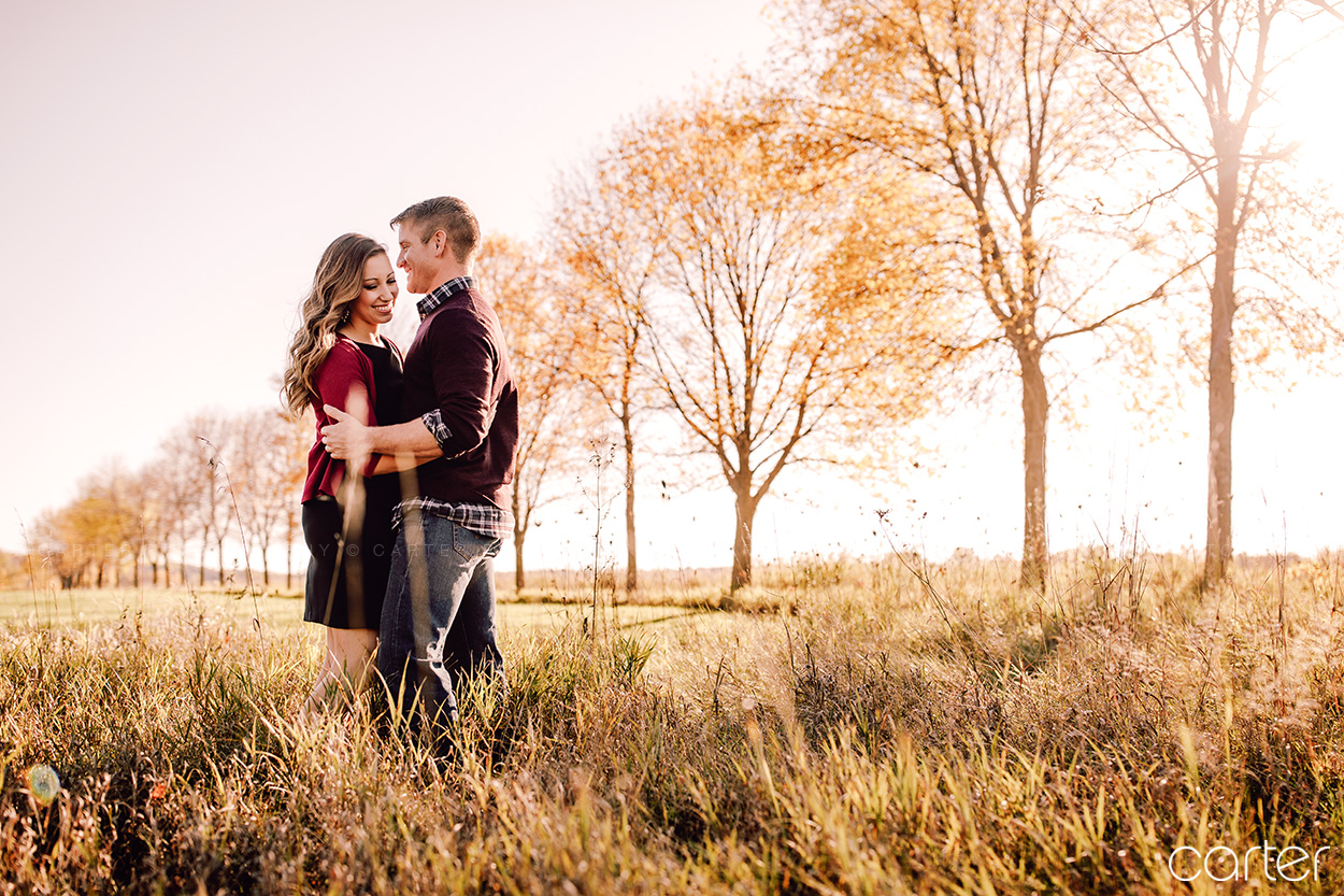 Palo Lake Engagement Session Pictures Iowa Photographers - Carter Photography