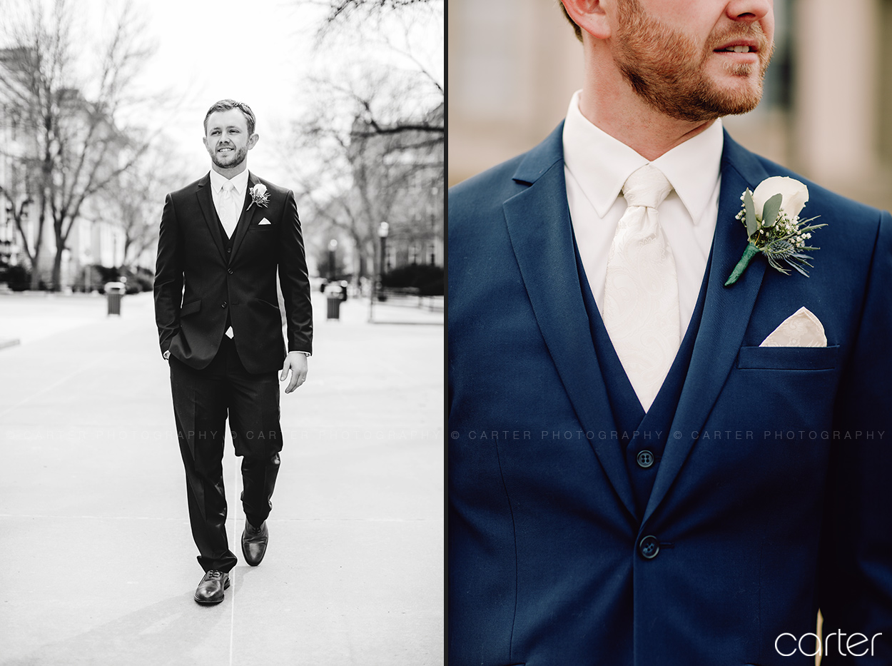 Groom Wedding Pictures Iowa City - Carter Photography