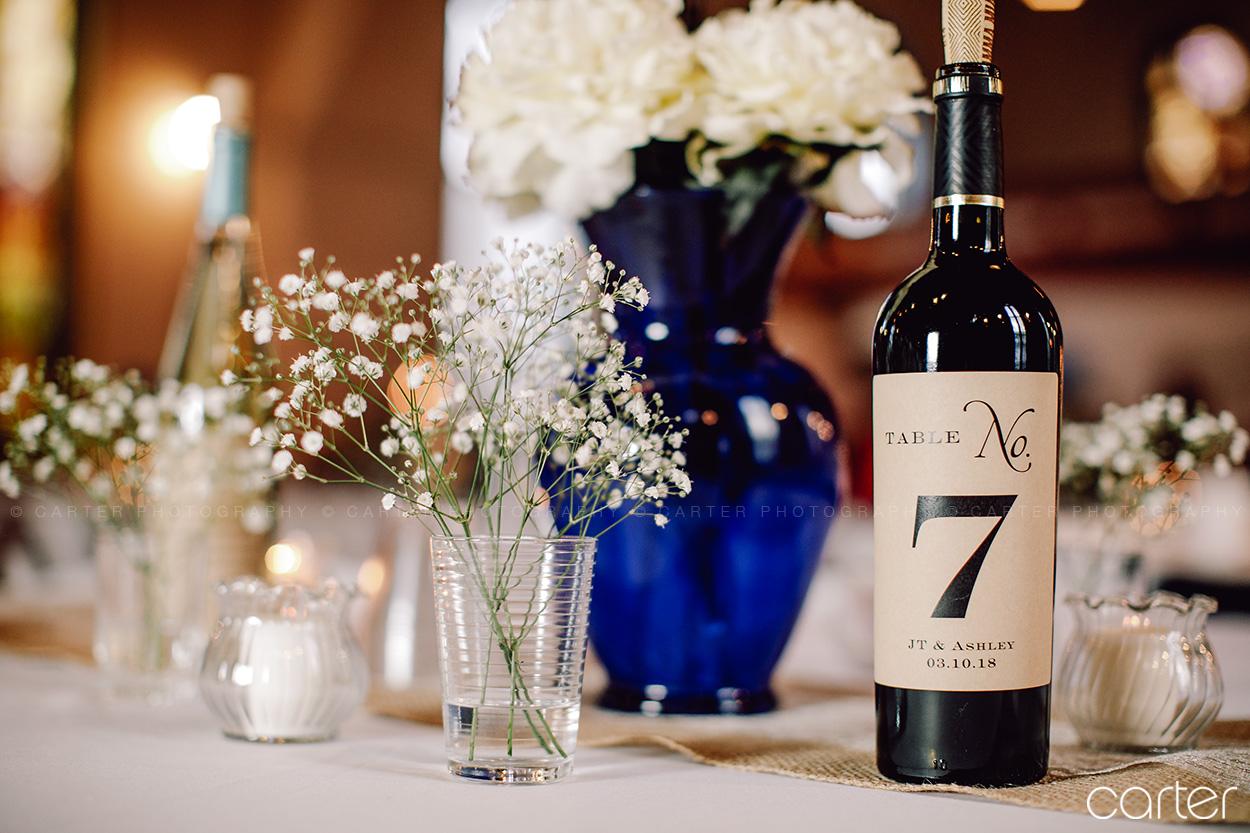 Old Brick Wedding Reception Details Iowa City - Carter Photography