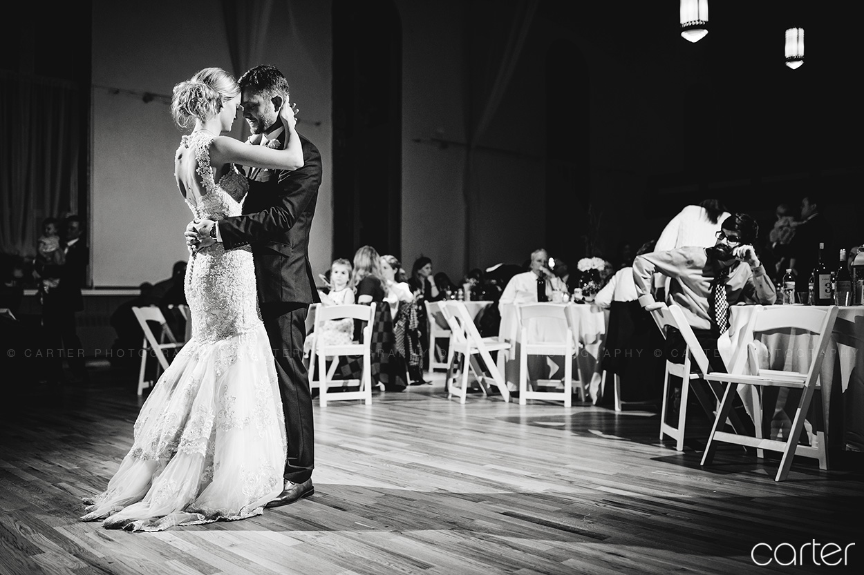 Old Brick Wedding Bride Groom First Dance Iowa City - Carter Photography