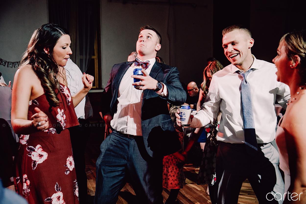 Old Brick Wedding Reception Dance Party Iowa City - Carter Photography
