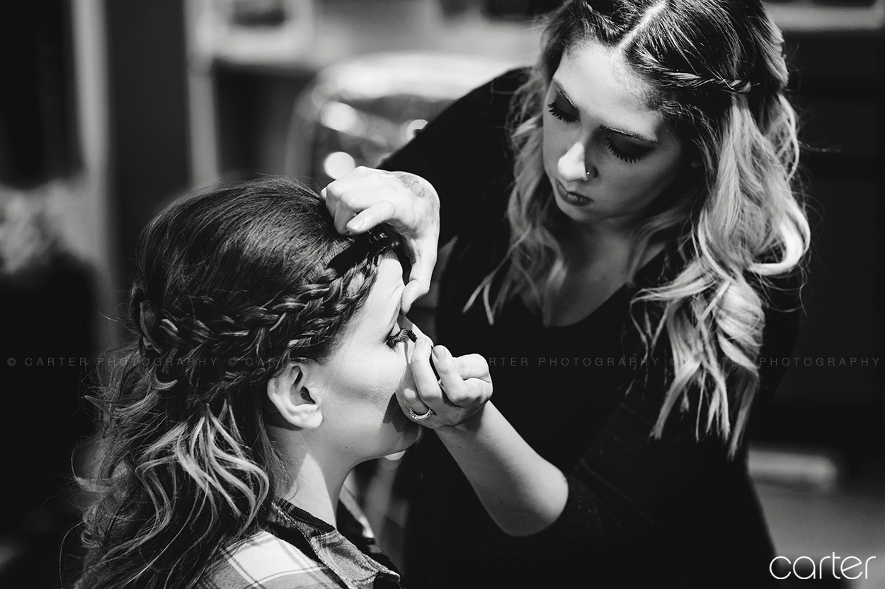 Carter Photography Iowa Wedding Pictures Makeup