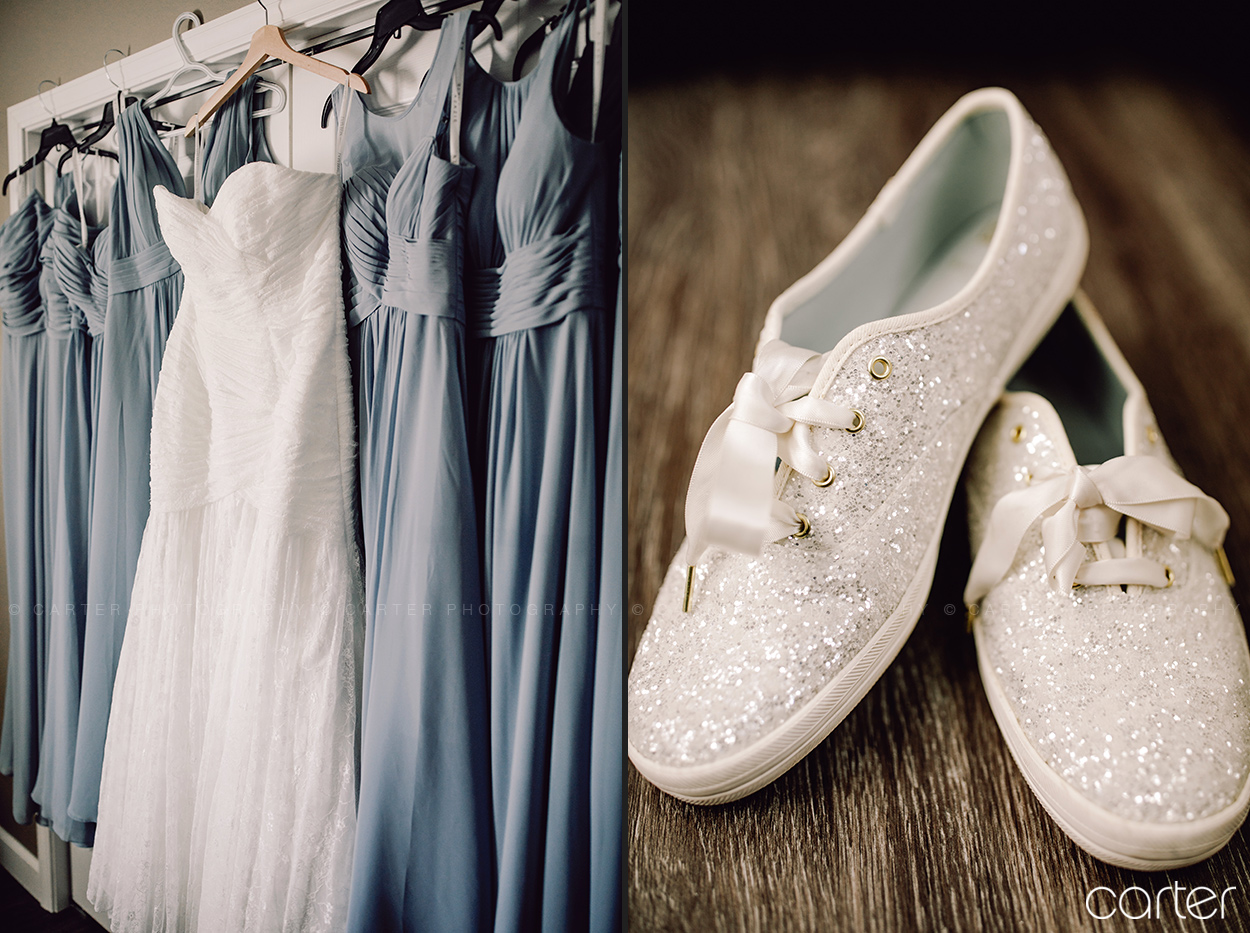 Carter Photography Iowa Wedding Pictures Bridal Dress Shoes