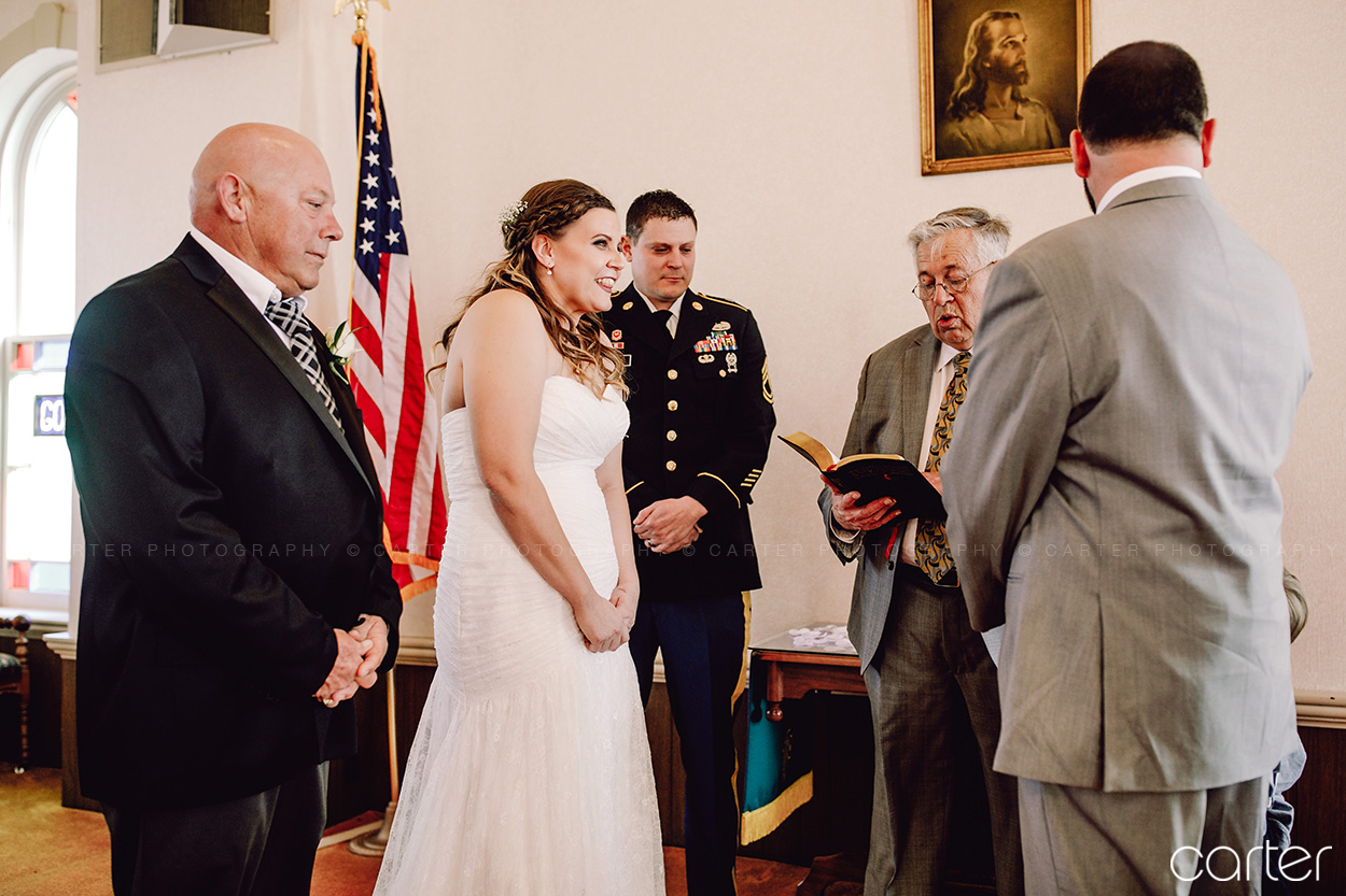 Carter Photography Iowa Wedding Pictures Bride Church Ceremony
