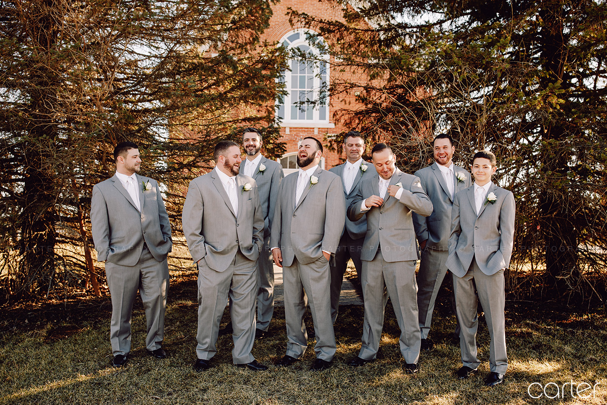 Carter Photography Iowa Photographers Wedding Pictures Candid Groomsmen