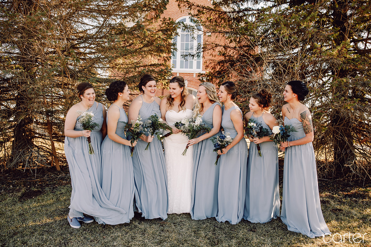 Carter Photography Iowa Photographers Wedding Pictures Candid Bridesmaids
