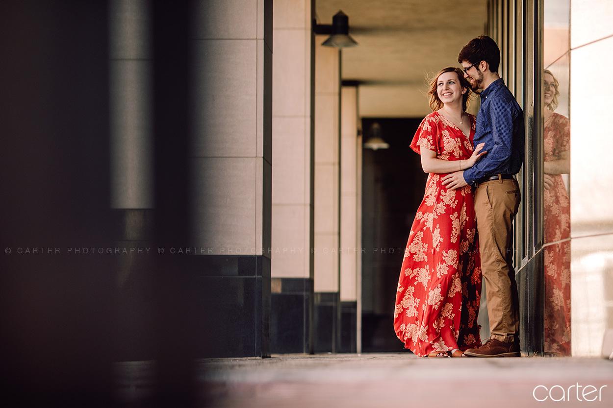 Downtown Cedar Rapids Engagement Pictures - Carter Photography