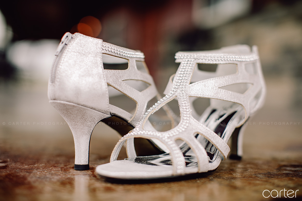 Bride's Shoes Barn on the Ridge Wedding Pictures Burlington Iowa Carter Photography