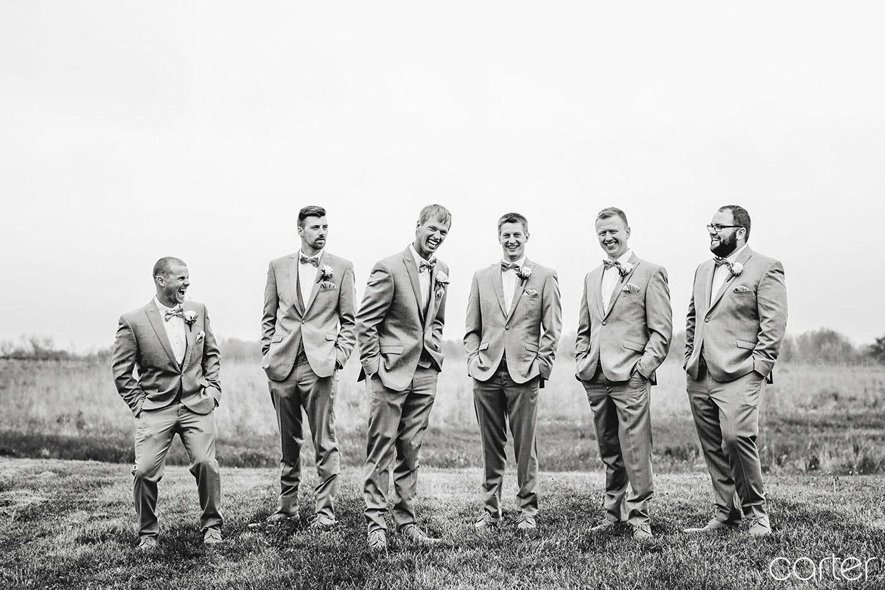 Groomsmen Barn on the Ridge Wedding Pictures Burlington Iowa Carter Photography