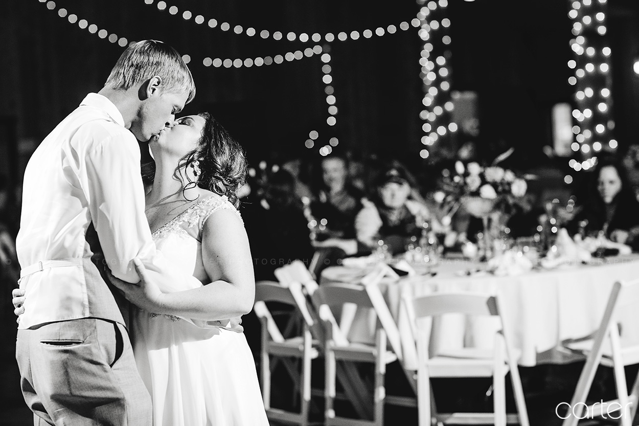 Bride Groom First Dance Barn on the Ridge Wedding Pictures Burlington Iowa Carter Photography