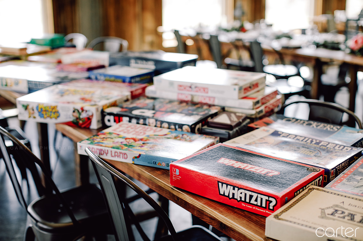 Board Game Wedding Details - Carter Photography
