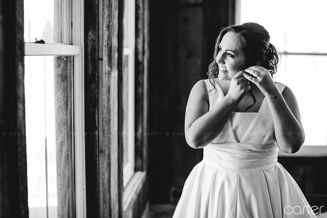 Bride Getting Ready Wedding Details at Rapid Creek Cidery Iowa City - Carter Photography