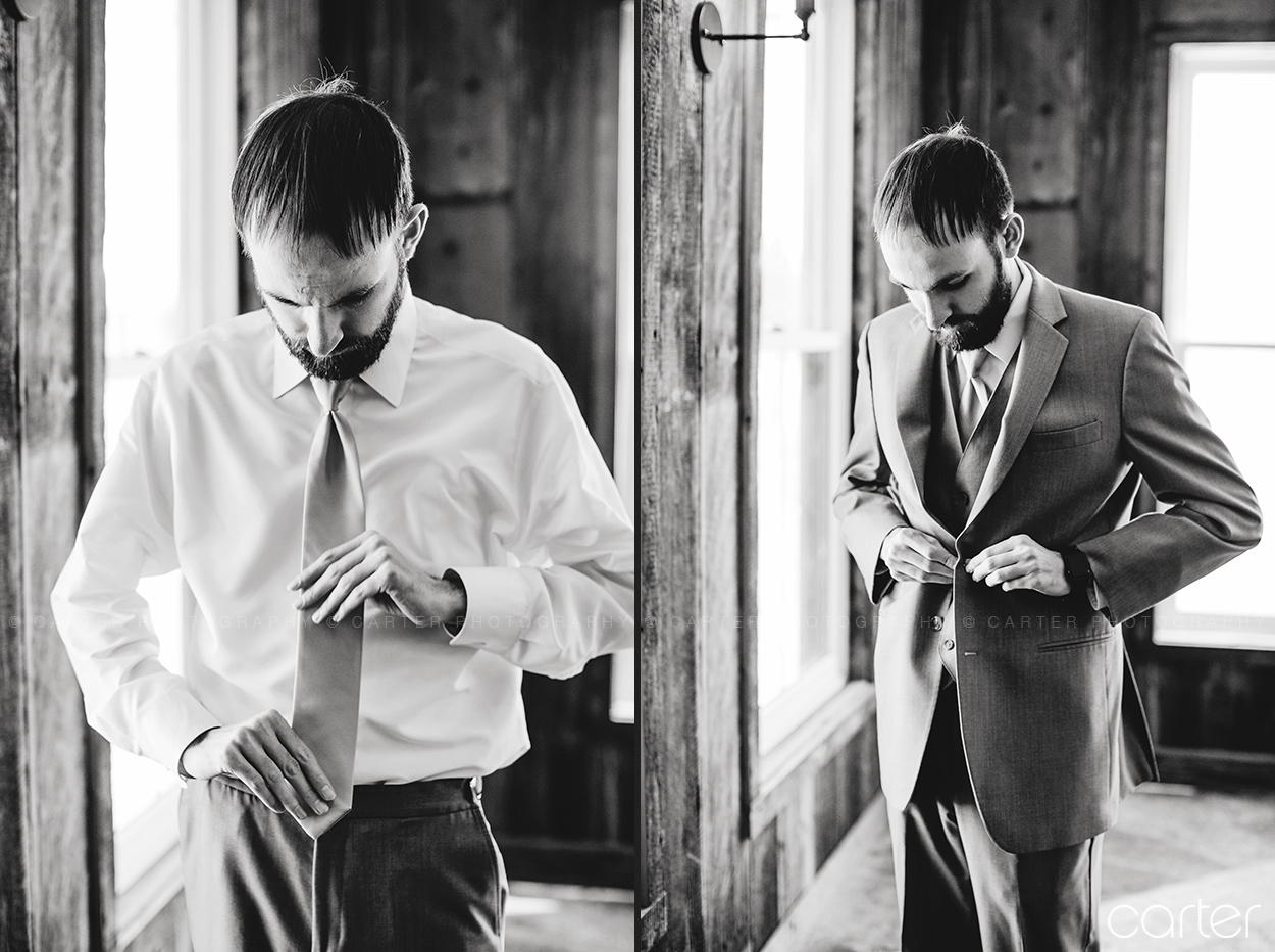 Groom Getting Ready Wedding Details at Rapid Creek Cidery Iowa City - Carter Photography