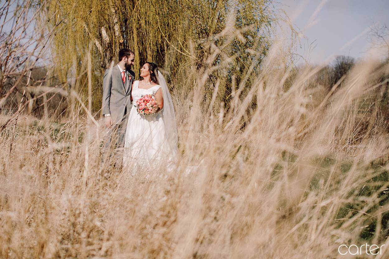 Wedding Bride Groom at Rapid Creek Cidery Iowa City - Carter Photography