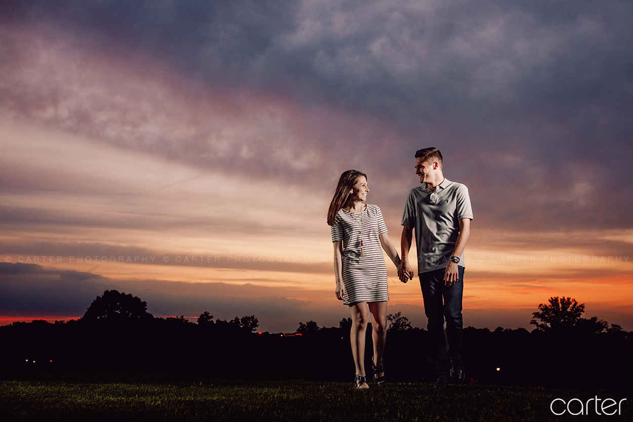 Iowa City Engagement Session Sunset Pictures Carter Photography