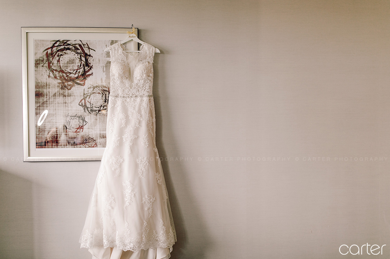 Weston Red Barn Farm Wedding Kansas City Bride's Dress Carter Photography