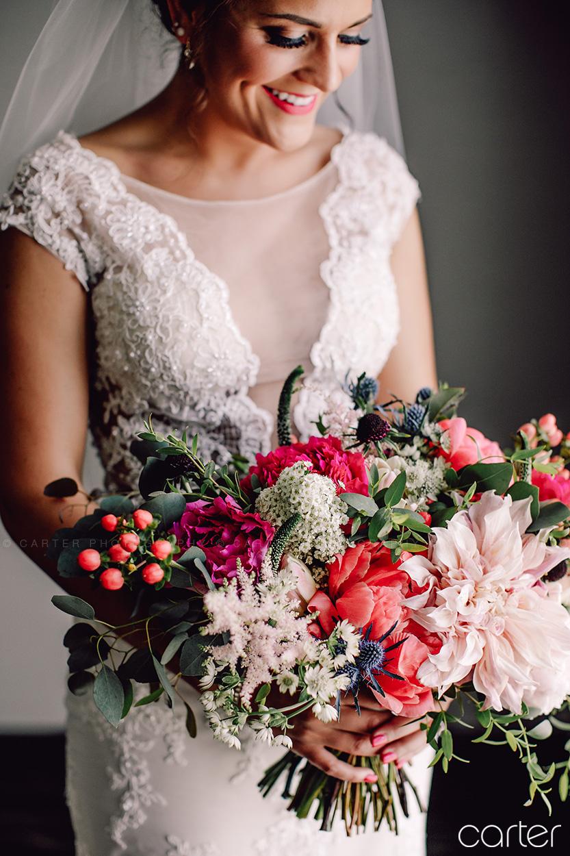 Weston Red Barn Farm Wedding Kansas City Bride Flowers Bouquet Carter Photography