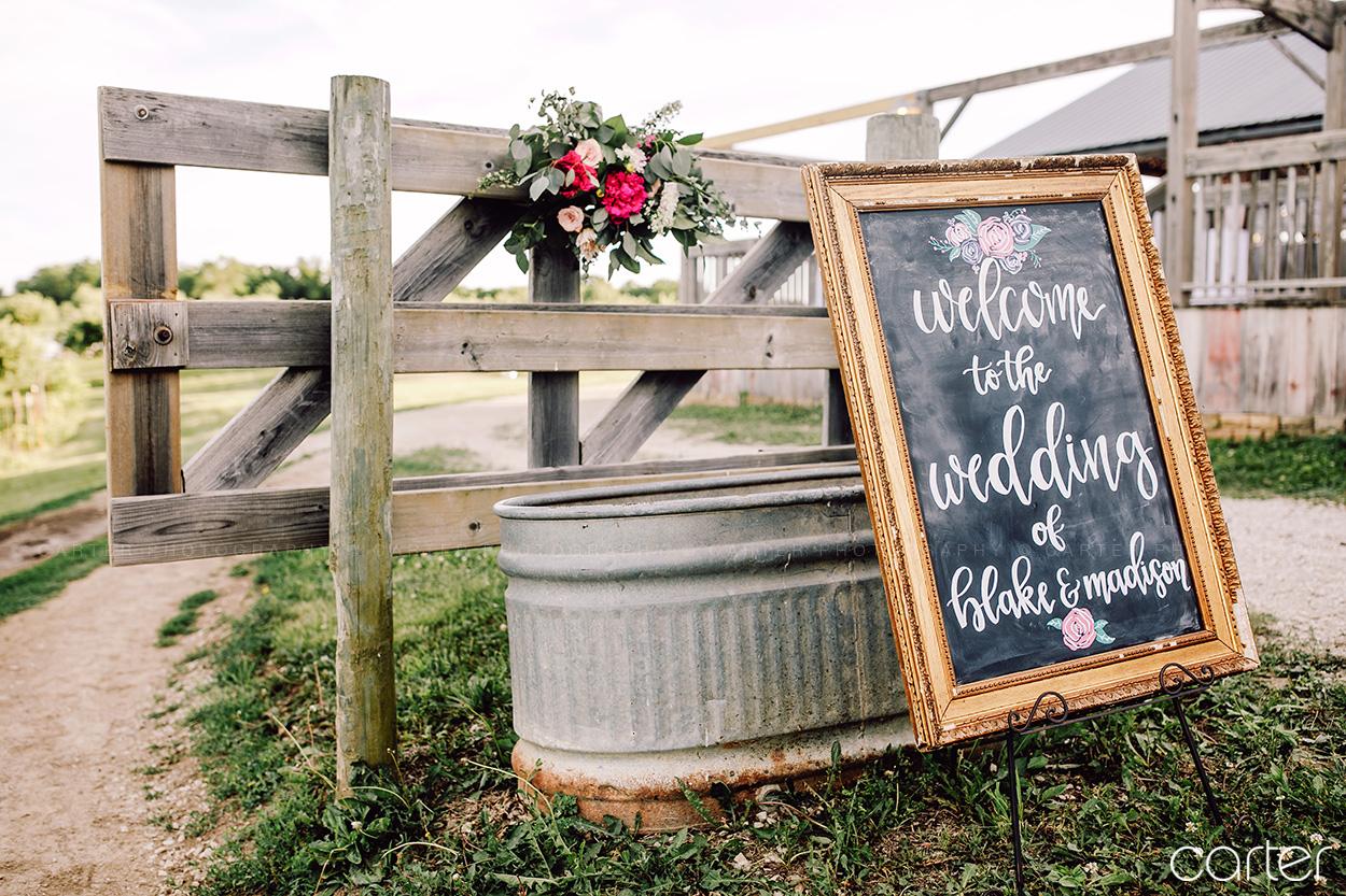 Weston Red Barn Farm Wedding Ceremony Kansas City Suits Carter Photography