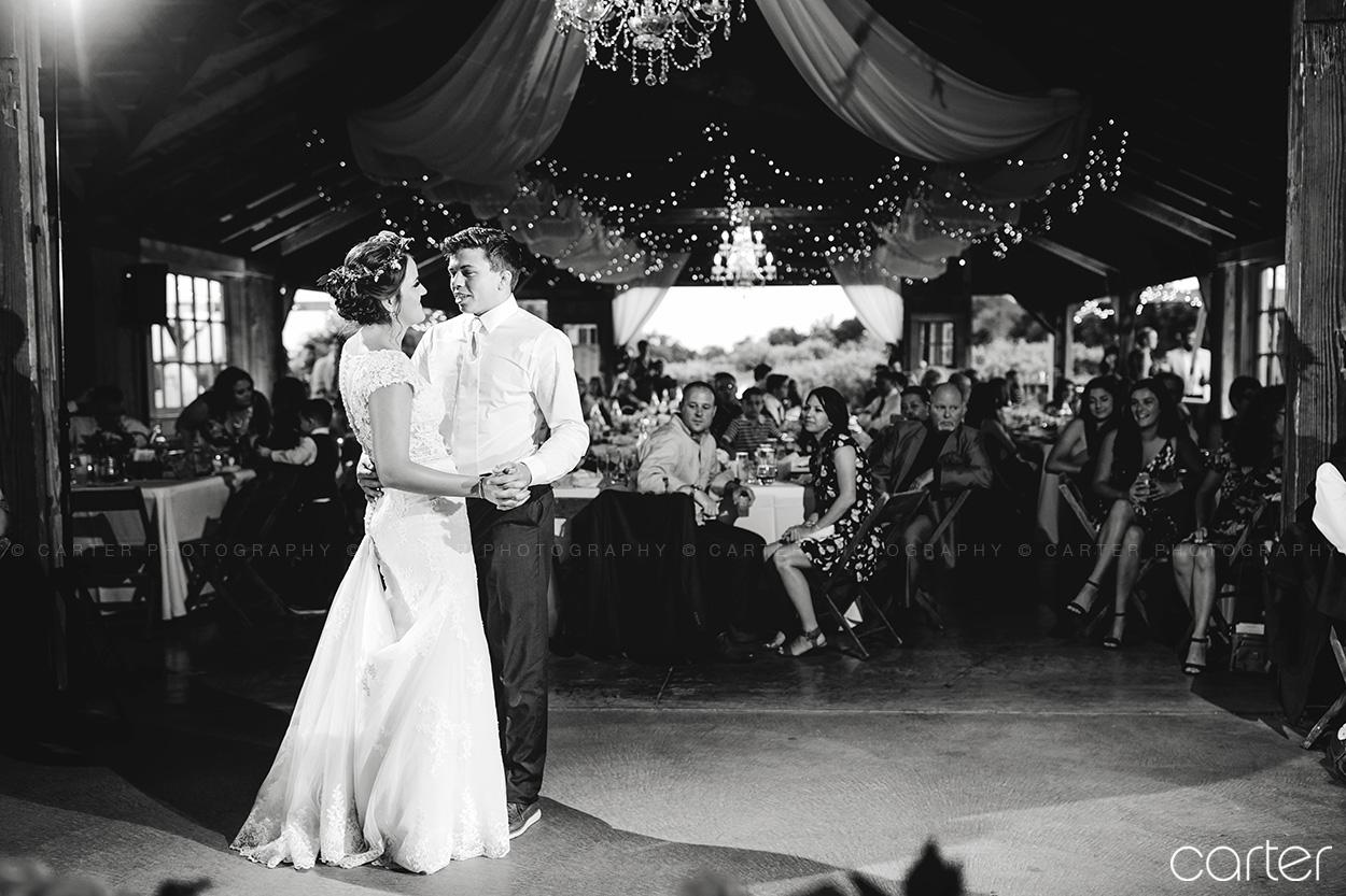 Weston Red Barn Farm Wedding Kansas City Reception First Dance Bride Groom Carter Photography