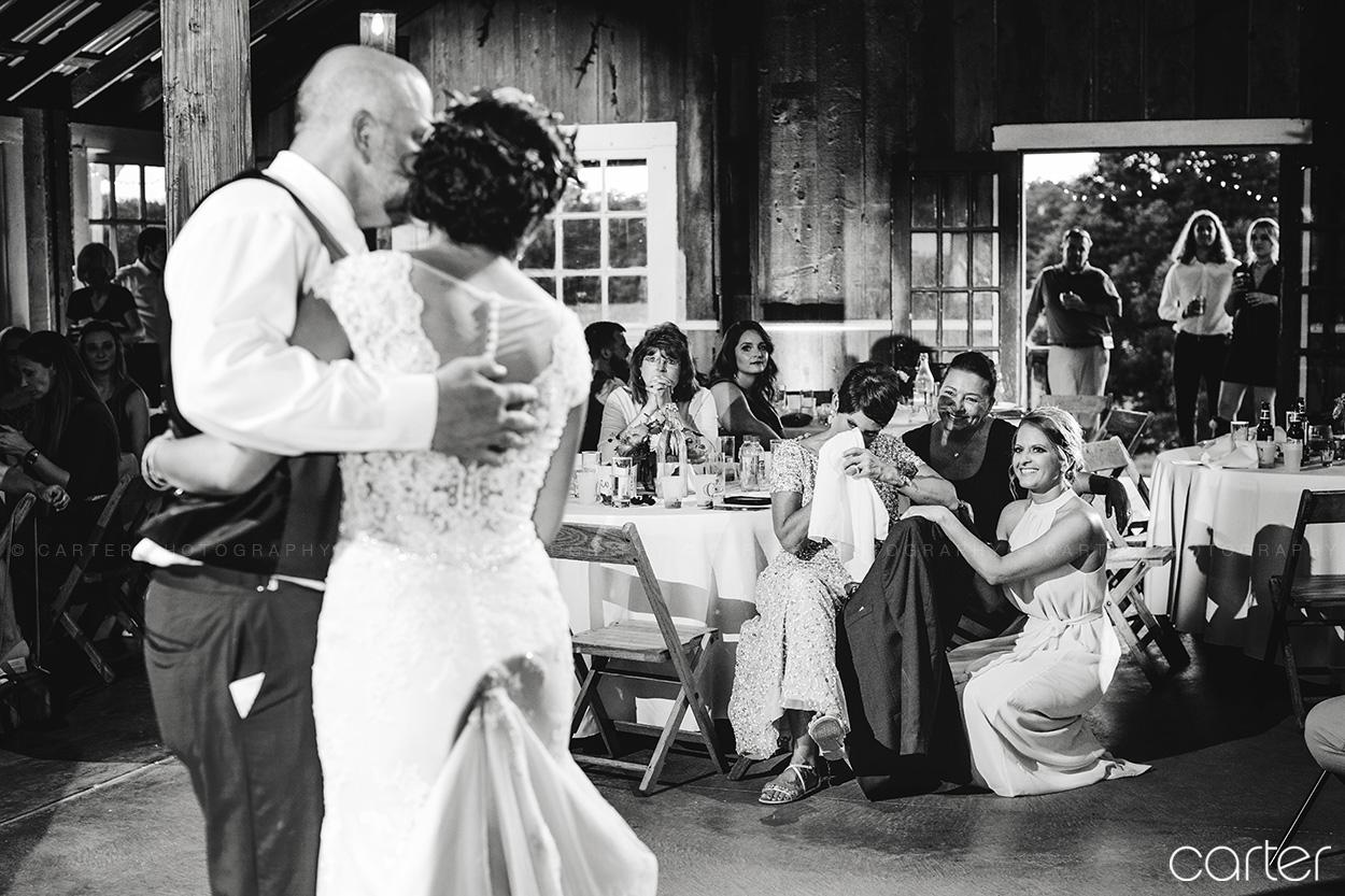 Weston Red Barn Farm Wedding Kansas City Reception Father Daughter Dance Bride Carter Photography