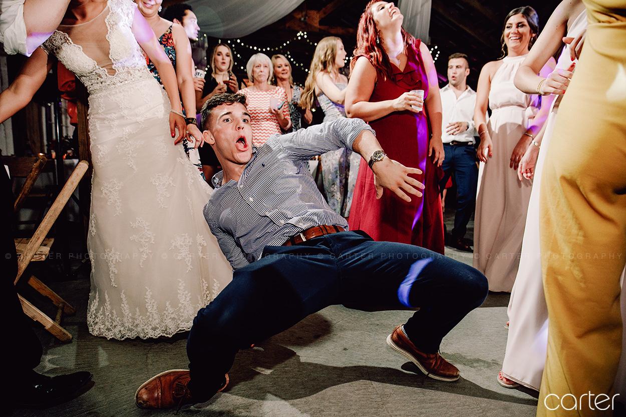 Weston Red Barn Farm Wedding Kansas City Reception Dance Carter Photography