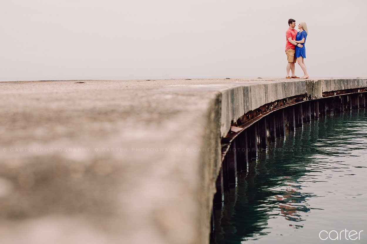 Chicago Engagement Session Pictures Lake Michigan Carter Photography