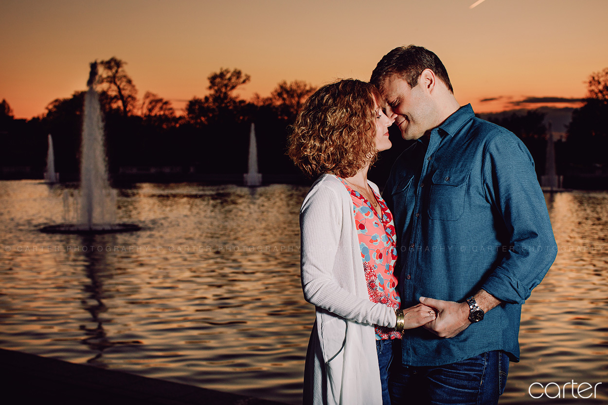 St Louis Engagement Session Art Museum Hill Missouri Botanical Gardens - Carter Photography