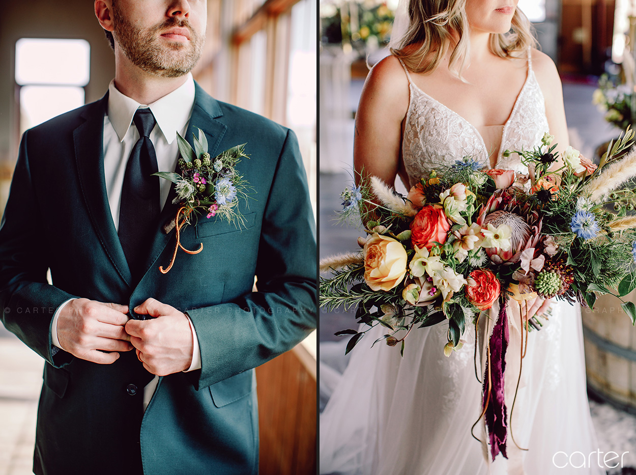 Cedar Ridge Rustic Boho Wedding Pictures Styled by Unique Events - Carter Photography