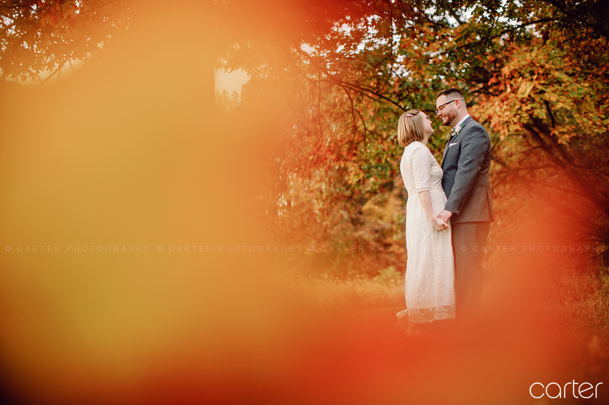 Cedar Rapids Fall Color Wedding Pictures Photographers Carter Photography at Indian Creek Nature Center